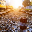 Railway to horizon — Stockfoto