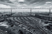 Railway transport hub — Stock Photo