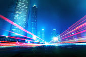 Now the city at night — Stock Photo