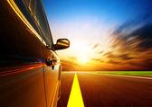 Carro em alta velocidade — Foto Stock