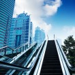 Escalator of Shanghai streets — Stock Photo