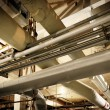 Stock Photo: Industrial Zone pipeline