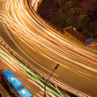 Overpass of the light trails — Stock Photo