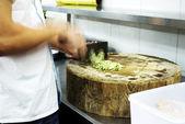 Cut cucumber — Stock Photo