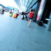 Passengers in the Airport — Stock Photo