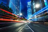 Moderne stad bij nacht — Stockfoto
