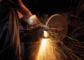 Abrasive cutting — Stockfoto