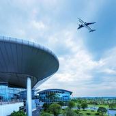 Shanghai Pudong Airport's aircraft — Stock Photo