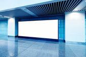 Hall subway station blank billboard — Stock Photo