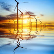ストック写真: Wind Power at Sunset