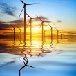 Stock fotografie: Wind Power at Sunset