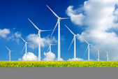 Eco power, wind turbines — 图库照片