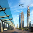 Aircraft on the Shanghai sky — Stock Photo #33565785
