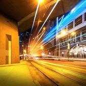 Modern city at night — Stock Photo