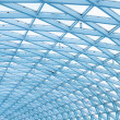 Contemporary roof, steel structure — Stock Photo