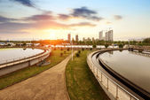 Sewage treatment plant — Stockfoto