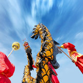 Dragon dance — Stock Photo