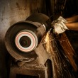 Abrasive cutting — Stock Photo