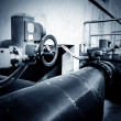 Stock Photo: Sewage treatment plant piping