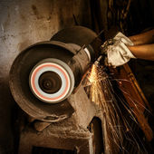 Abrasive cutting — Stock Photo
