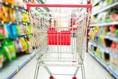Supermarket cart — Stock Photo