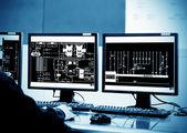 Sala di controllo — Foto Stock