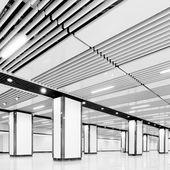 Empty airport channel — Stok fotoğraf
