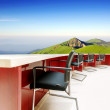 Stock Photo: Conference tables and chairs on mountain