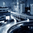Stock Photo: Modern urban viaduct at night