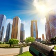 Stock Photo: Parks and modern architecture