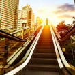 Escalator of Shanghai streets — Stock Photo