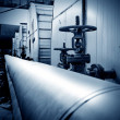 Stock Photo: Large industrial boilers