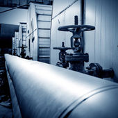 Large industrial boilers — Stock Photo
