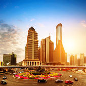 Shanghai Pudong financial district — Stock Photo