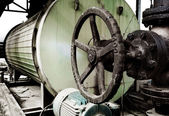 Boiler and valves — Stock Photo