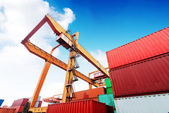 Large Container Terminal — Stock Photo
