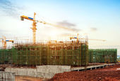 Housing construction site — Stock Photo