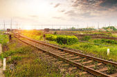 The way forward railway — Stock Photo