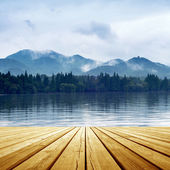 Lake landscape — Stock Photo