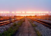 Railway hub — Stock Photo