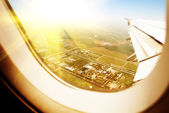 Airplane window — Stock Photo