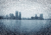 Broken glass outside cities — Stock Photo