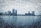 Broken glass outside cities — Photo