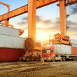 The container terminal at dusk — Stock Photo #49183033