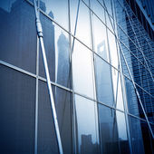 Glass wall of modern architecture — Stock Photo