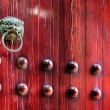Chinese ancient buildings knocker — Stock Photo #49925491