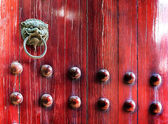 Chinese ancient buildings knocker — Stock Photo