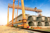 Bridge construction site — Stock Photo