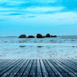 Platform beside sea — Stock Photo #50911483