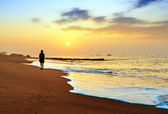 Early morning beach — Stock Photo
